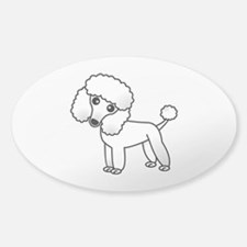 Cute White Poodle Decal