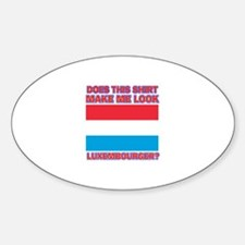Luxembourger flag designs Sticker (Oval)