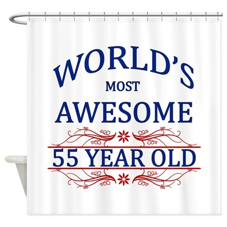 World's Most Awesome 55 Year Old Shower Curtain