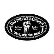 bargain-beg-T.png Oval Car Magnet