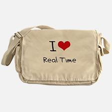 I Love Real Time Messenger Bag