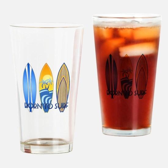 Born 2 Surf Drinking Glass