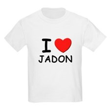 I love Jadon Kids T-Shirt