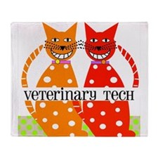 vet tech 3 Throw Blanket