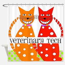 vet tech 3 Shower Curtain