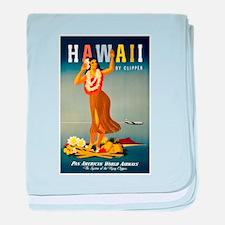 Vintage Hawaiian Travel baby blanket