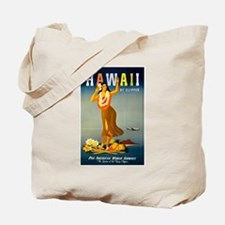 Vintage Hawaiian Travel Tote Bag