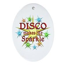 Disco Sparkles Ornament (Oval)
