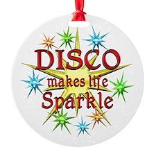 Disco Sparkles Round Ornament