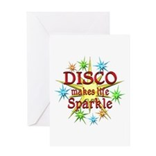 Disco Sparkles Greeting Card