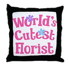 Worlds Cutest Florist Throw Pillow
