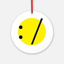 Shrug emotion Ornament (Round)