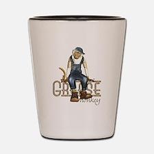 Funny Grease Monkey Mechanic Shot Glass