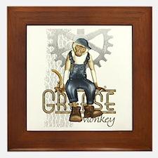 Funny Grease Monkey Mechanic Framed Tile