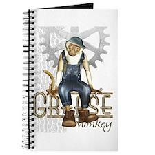 Funny Grease Monkey Mechanic Journal