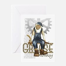 Funny Grease Monkey Mechanic Greeting Card
