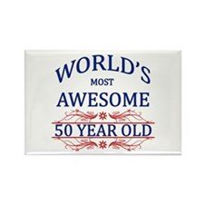 World's Most Awesome 50 Year Old Rectangle Magnet