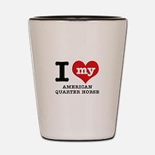 I love my American Quarter Horse Shot Glass
