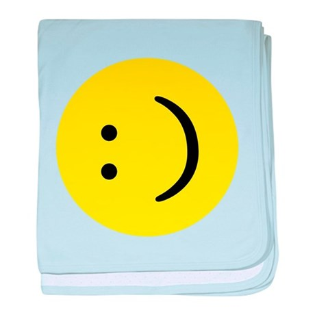 Text smiley face baby blanket