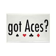 """""""Got Aces?"""" Rectangle Magnet"""