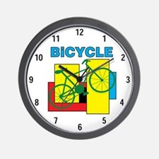Color Block Bike Wall Clock
