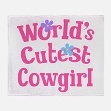 Worlds Cutest Cowgirl Throw Blanket