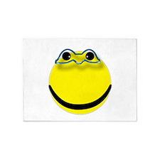 Super hero smiley face 5'x7'Area Rug