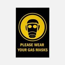 """""""Gas Mask"""" Rectangle Magnet"""