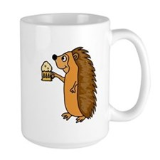 Hedgehog with a Beer Mug