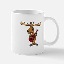 Funny Moose Playing Guitar Mug