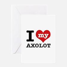 I love my Axolot Greeting Card
