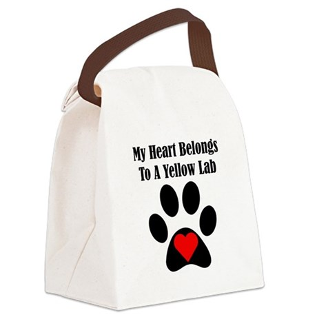 My Heart Belongs To A Yellow Lab Canvas Lunch Bag