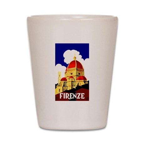 Vintage Florence Italy Travel Shot Glass