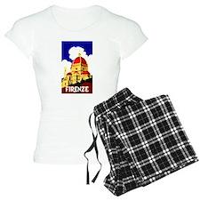 Vintage Florence Italy Travel Pajamas