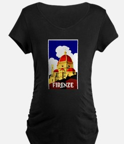 Vintage Florence Italy Travel Maternity T-Shirt