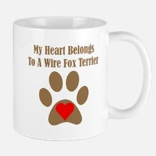 My Heart Belongs To A Wire Fox Terrier Small Mug