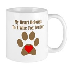 My Heart Belongs To A Wire Fox Terrier Small Mug