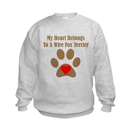 My Heart Belongs To A Wire Fox Terrier Sweatshirt