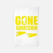 Gone Squatchin footprints 3'x5' Area Rug