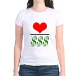 Pink/Salmon Jr. Ringer T-Shirt
