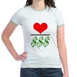 Mint/Avacado Jr. Ringer T-Shirt