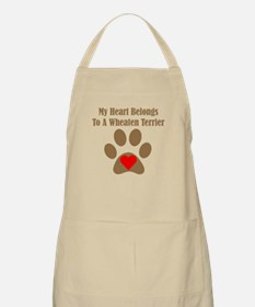 My Heart Belongs To A Wheaten Terrier Apron