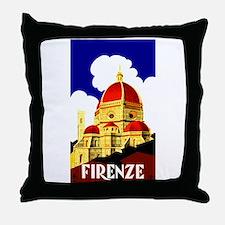 Vintage Florence Italy Travel Throw Pillow