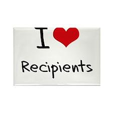 I Love Recipients Rectangle Magnet