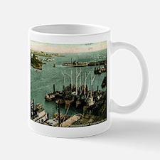 1909 Harbor, Bridgeport, Connecticut Vintage Mug