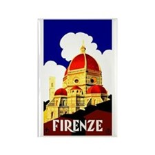 Vintage Florence Italy Travel Rectangle Magnet