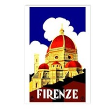 Vintage Florence Italy Travel Postcards (Package o