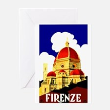 Vintage Florence Italy Travel Greeting Card