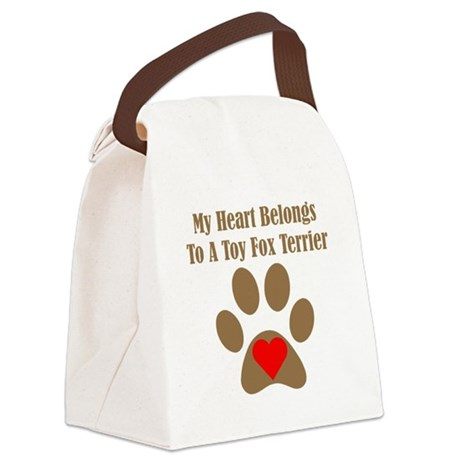 My Heart Belongs To A Toy Fox Terrier Canvas Lunch