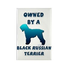 Black Russian Silhouette Rectangle Magnet